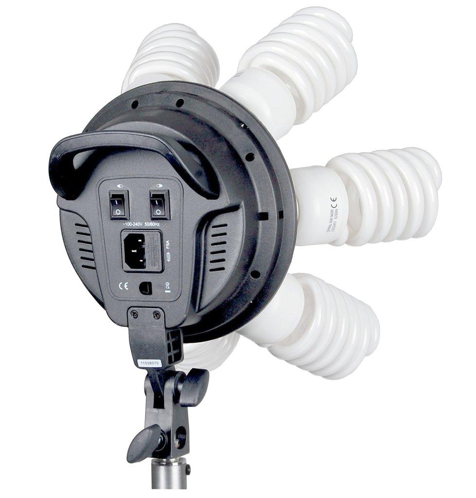 softbox leuchte mit 7 spirallampen bei cf photo video. Black Bedroom Furniture Sets. Home Design Ideas