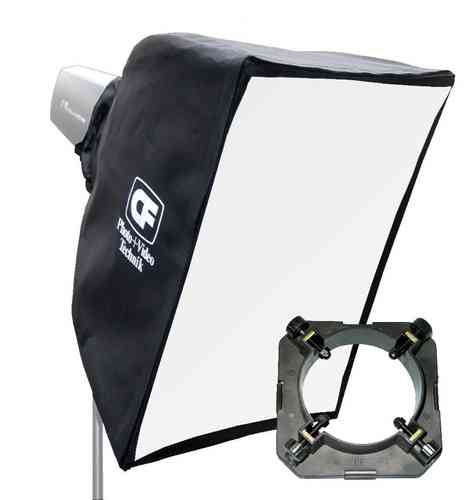 Chamäleon Softbox 45x45 für Studioblitz 95 mm Ø