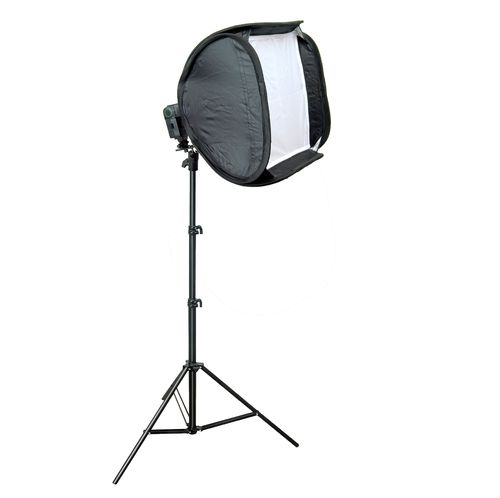 Magic Softbox 50x50 cm für Systemblitz mit Stativ