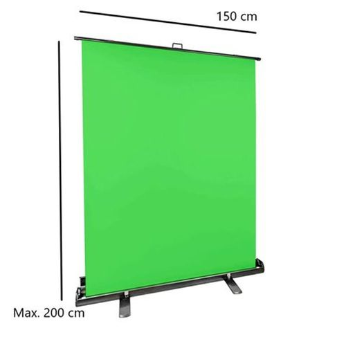 CF Roll-Up Photgraphic Background Green Screen 150x200 cm